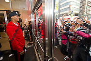 Fans wait to meet Chicago Bulls' Derrek Rose at an adidas event on October 15, 2011 in Chicago.  (For adidas)