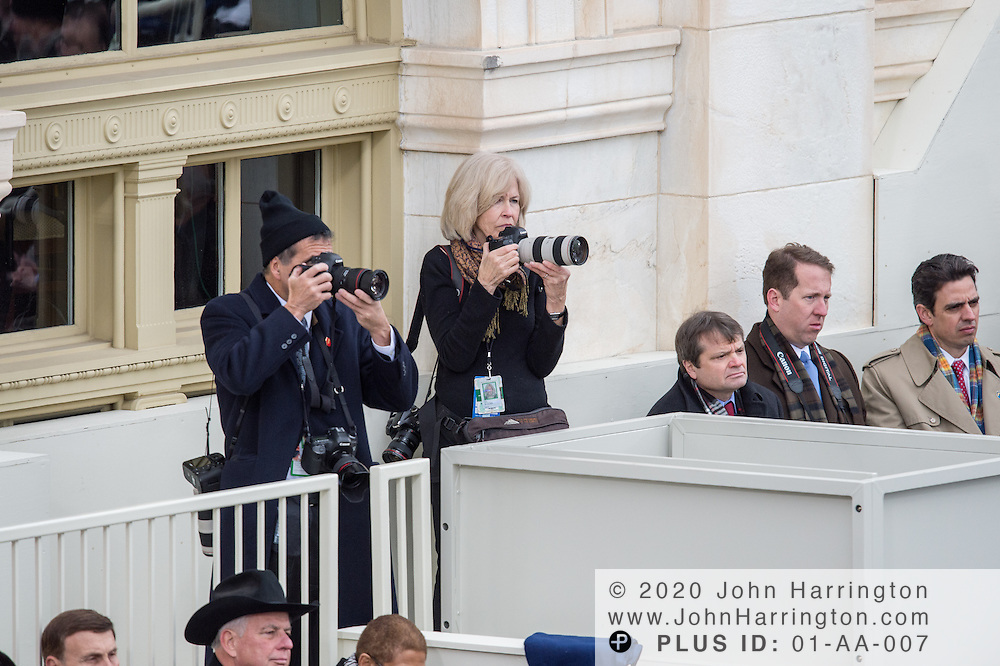 Presidential Photographer Pete Souza and Susan Biddle cover the 57th Presidential Inauguration of President Barack Obama at the U.S. Capitol Building in Washington, DC January 21, 2013.