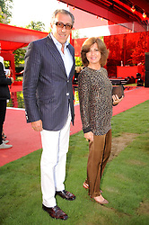 BROOSK SAIB and PILAR BOXFORD at the annual Serpentine Gallery Summer party this year sponsored by Jaguar held at the Serpentine Gallery, Kensington Gardens, London on 8th July 2010.  2010 marks the 40th anniversary of the Serpentine Gallery and the 10th Pavilion.
