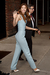 August 15, 2018 - New York, New York, U.S. - Jessica Biel made an appearance on 'The Late Show with Stephen Colbert' in New York City. (Credit Image: © Kristin Callahan/Ace Pictures via ZUMA Press)