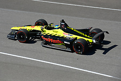 April 30, 2018 - Indianapolis, IN, U.S. - INDIANAPOLIS, IN - APRIL 30: Sebastien Bourdais (18) during an Open Test on April 30, 2018, at the Indianapolis Motor Speedway in Indianapolis, IN. (Photo by James Black/Icon Sportswire) (Credit Image: © James Black/Icon SMI via ZUMA Press)