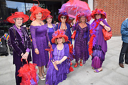Norwich Prima Donnas, a 'Red Hat Society' Chapter at Pride 2017, Norwich UK, 29 July 2017