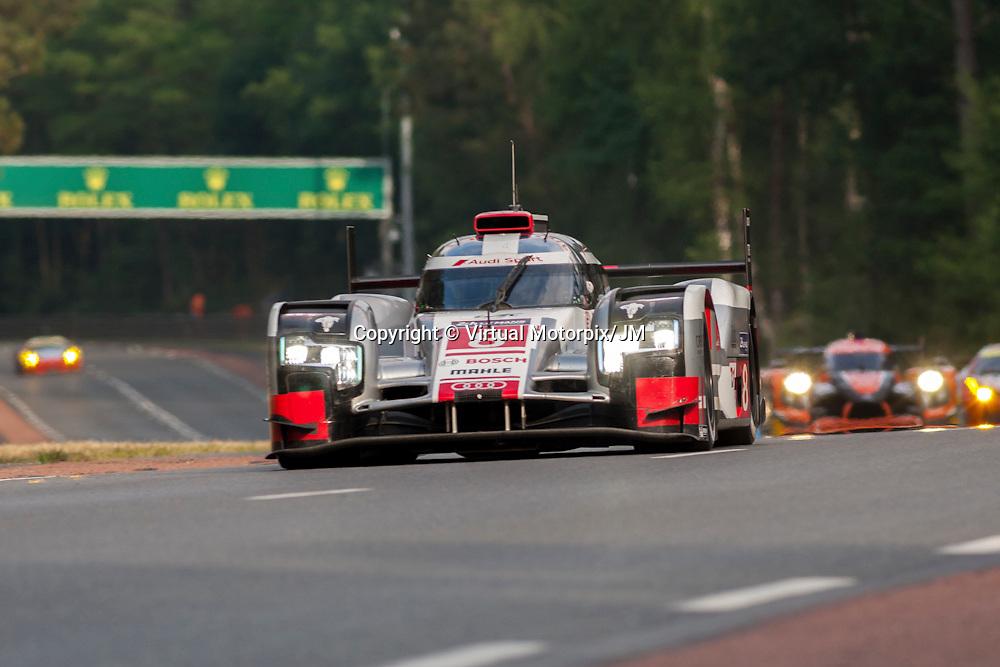 #8 Audi R18 e-tron quattro, Audi Sport Team Joest, Lucas di Grassi, Loic Duval, Oliver Jarvis, Le Mans 24H 2015
