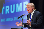 Billionaire Republican presidential candidate Donald Trump speaks to supporters at the South Carolina African American Chamber of Commerce annual meeting September 23, 2015 in Charleston, South Carolina.