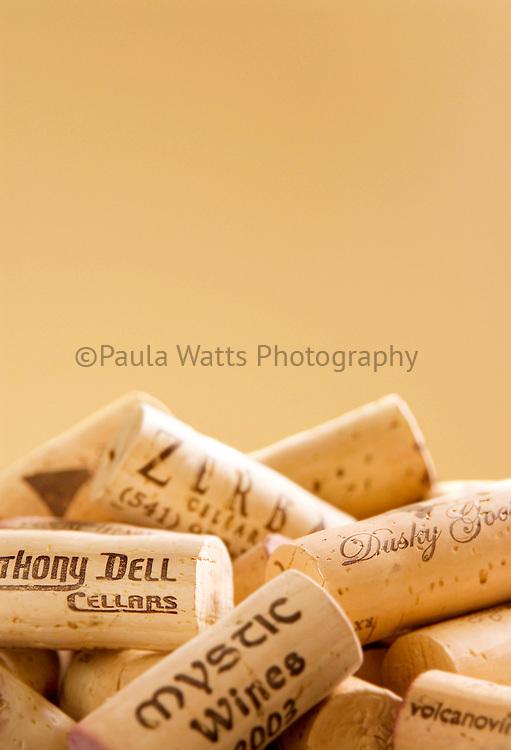Stack of Wine Corks