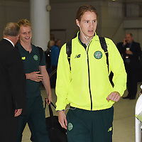 24/08/15 <br /> GLASGOW AIRPORT<br /> Celtic's Stefan Johansen arrives at Glasgow Airport ahead of his side's forthcoming UEFA Champions League 2nd Leg Play-Off fixture against Malmo.