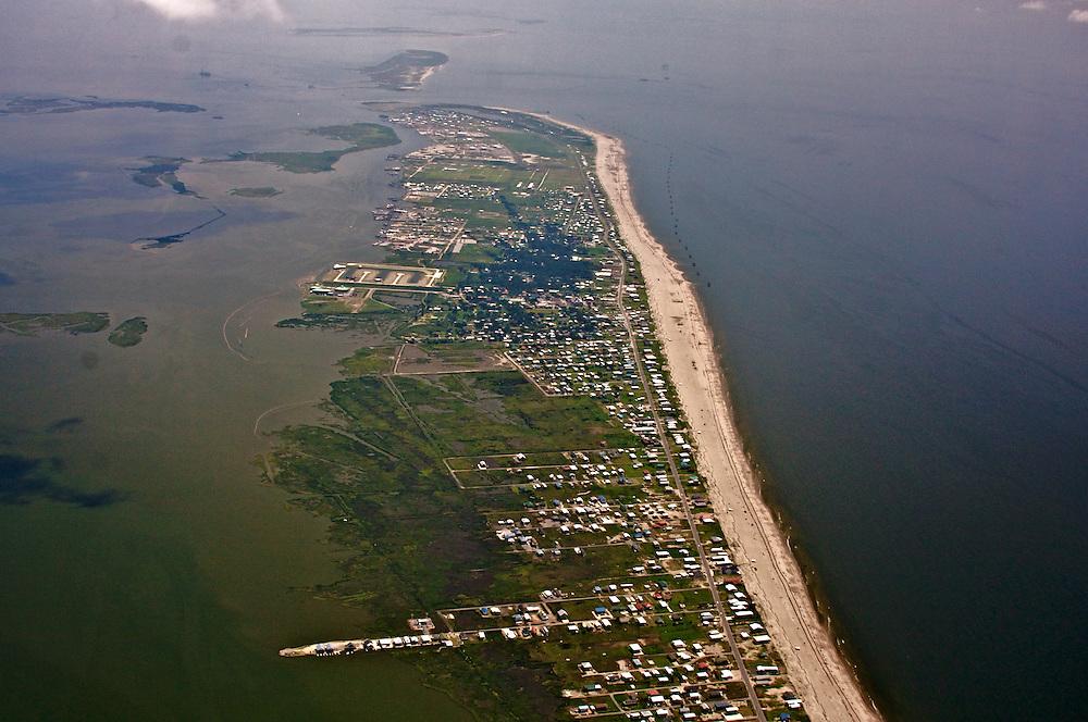 Grand Isle, Louisiana, USA. (View ENE)