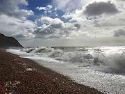 Jurassic Coast Dorset. view of Eype Beach