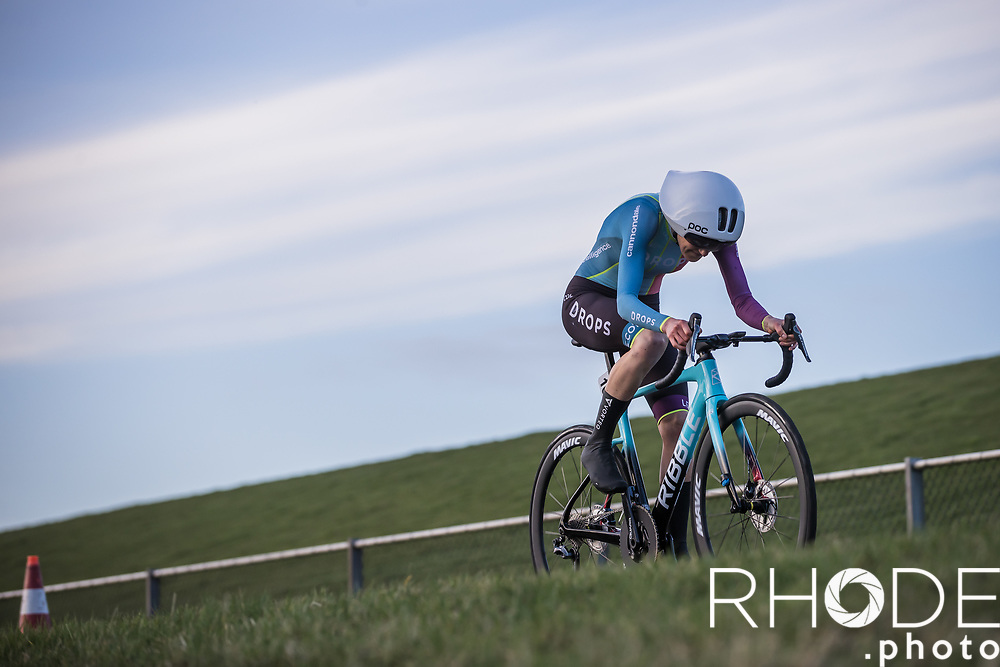 Joscelin Lowden (GBR/Drops LeCol)<br /> <br /> Healthy Ageing Tour (NED) 2021<br /> UCI Women Elite 2.1<br /> Stage 2 : Individual Time Trial (ITT) – Lauwersoog – Het Hoogeland 14.4km<br /> <br /> ©RhodePhoto