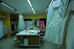 Taranto, maggio 2013.Atelier Aimée Montenapoleone, abiti da sposa