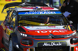 October 28, 2018 - Barcelona, Catalonia, Spain - The French driver, Sebastien Loeb and his co-driver Daniel Elena, at podium ceremony of Rally Racc during the last day of WRC Rally Racc Catalunya, on October 28, 2018 in Salou, Spain. (Credit Image: © Joan Cros/NurPhoto via ZUMA Press)