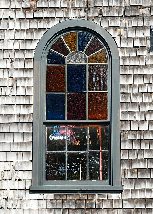 Window 4 on plan. <br /> <br /> Otter Creek Hall, Otter Creek, Maine. Completed 1904.