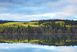 Autumn reflection, Pyramid Lake, Jasper National Park