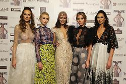 Napoli Presentation new issue of Pink Life magazine cover Raffaella Modugno wearing a dress of the designer Bruno Caruso.Nella photos Raffaella Modugno, Models