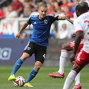 Sam Cronin, San Jose Earthquakes, in action during the New York Red Bulls Vs San Jose Earthquakes, Major League Soccer regular season match at Red Bull Arena, Harrison, New Jersey. USA. 19th July 2014. Photo Tim Clayton