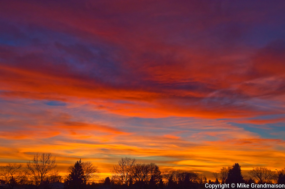 sky at sunset<br /> WInnipeg<br /> Manitoba<br /> Canada