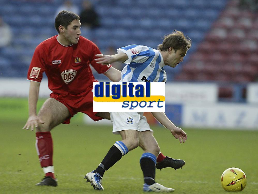Fotball<br /> England 2004/2005<br /> Foto: SBI/Digitalsport<br /> NORWAY ONLY<br /> <br /> Huddersfield Town v Bristol City<br /> Coca-Cola League 1<br /> 03/01/2005<br /> <br /> Bristol's Bradley Orr and Huddersfield's Chris Brandon