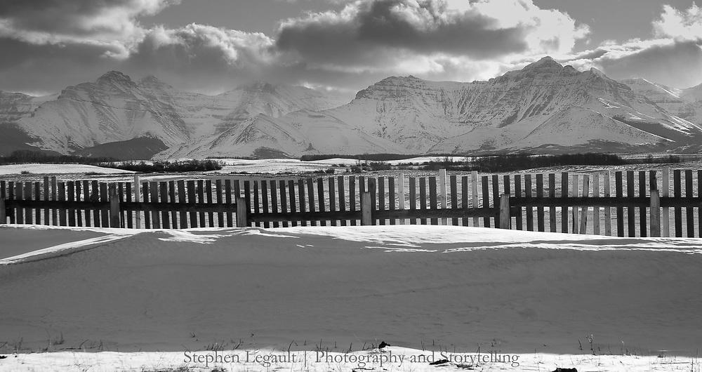 Snow Fence, Waterton Front, Alberta