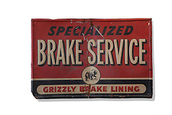 Antique brake service sign
