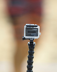 17-07-2014 NED: FIVB Grand Slam Beach Volleybal, Apeldoorn<br /> Poule fase groep A mannen - GoPro zorgt voor de video analyse