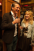 ALASTAIR CHOAT; ; ANNA BADDELEY, The Omnivore hosts the third Hatchet  Job of the Year Award. Sponsored by the Fish Society.  The Coach and Horses. Greek st. Soho. London. 11 February 2014.