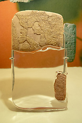 Treaty of Kadesh - Believed to be the earliest example of any written international agreement of any kind, c.1258 BC, Istanbul Archaeology Museum
