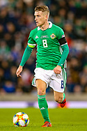 Northern Ireland midfielder Steven Davis during the UEFA European 2020 Qualifier match between Northern Ireland and Estonia at National Football Stadium, Windsor Park, Northern Ireland on 21 March 2019.
