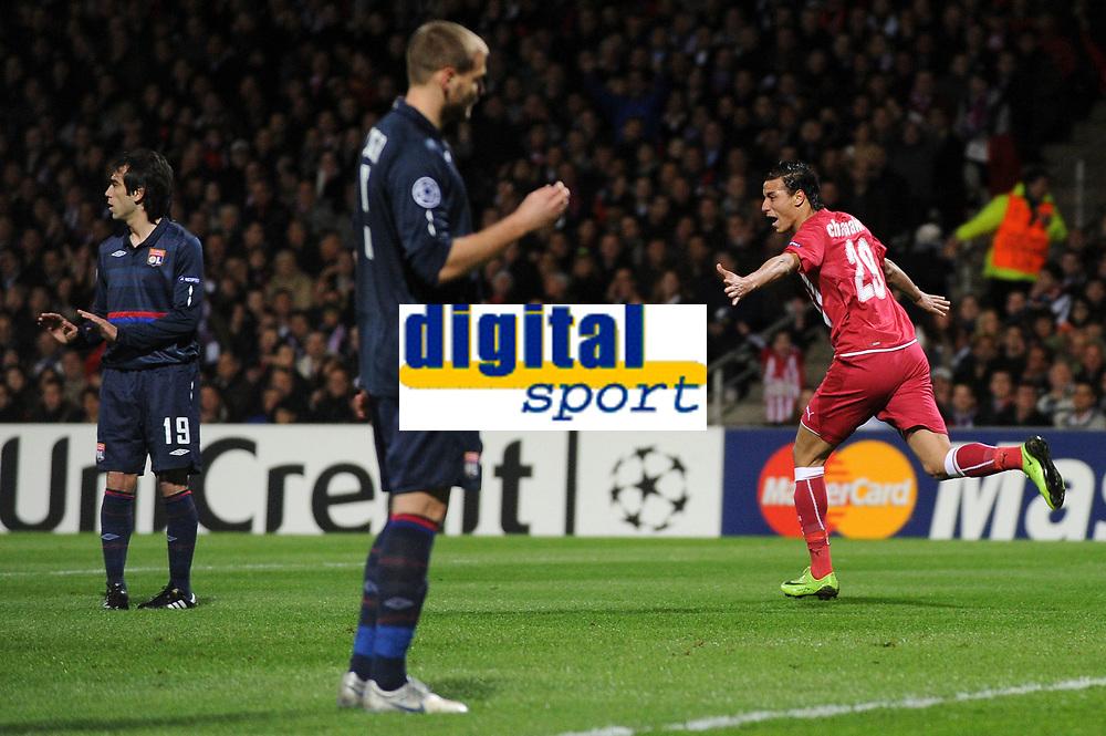 FOOTBALL - UEFA CHAMPIONS LEAGUE 2009/2010 - 1/4 FINAL - 1ST LEG - OLYMPIQUE LYONNAIS v GIRONDINS DE BORDEAUX - 30/03/2010 - PHOTO FRANCK FAUGERE / DPPI - GOAL CHAMAKH