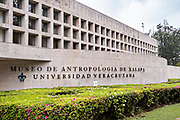 Exterior view of the Museum of Anthropology in the historic center of Xalapa, Veracruz, Mexico.