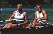 Lucerne, SWITZERLAND. [RDA] DDR M2-. Bow, Carl ERTEL and Uwe GASCH, 1988 Lucerne International Regatta, Lake Rotsee. June 1988 [Mandatory Credit - Peter Spurrier/Intersport Images] 1988 Lucerne International Regatta,
