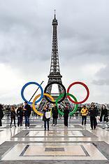 Olympics Rings in Paris - 18 Sept 2017