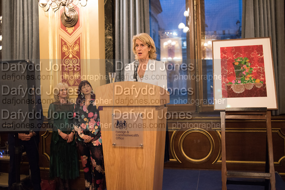 PENNY JOHNSON, TenTen. The Government Art Collection/Outset Annual Award. Champagne reception to announce the inaugural artist Hurvin Anderson and unveil his 2018 print. Locarno Suite, Foreign and Commonwealth Office. SW1. 2 October 2018