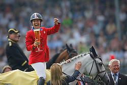 """Bond Ashlee (USA) - Cadett 7<br /> Winner of the """"Warsteiner Preis von Europa""""<br /> CHIO Aachen 2009<br /> Photo © Dirk Caremans"""