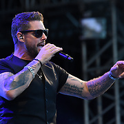 BOYZONE - Keith Duffy perform live at Kew The Music Festival 2018 on 14 July 2018, London, UK.