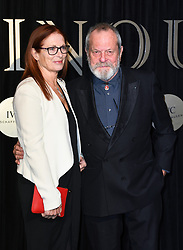 Terry Gilliam and Maggie Watson attending the BFI's Luminous fundraising gala, held at the Guildhall, London. Picture date: Tuesday October 3rd, 2017. Photo credit should read: Doug Peters/EMPICS Entertainment