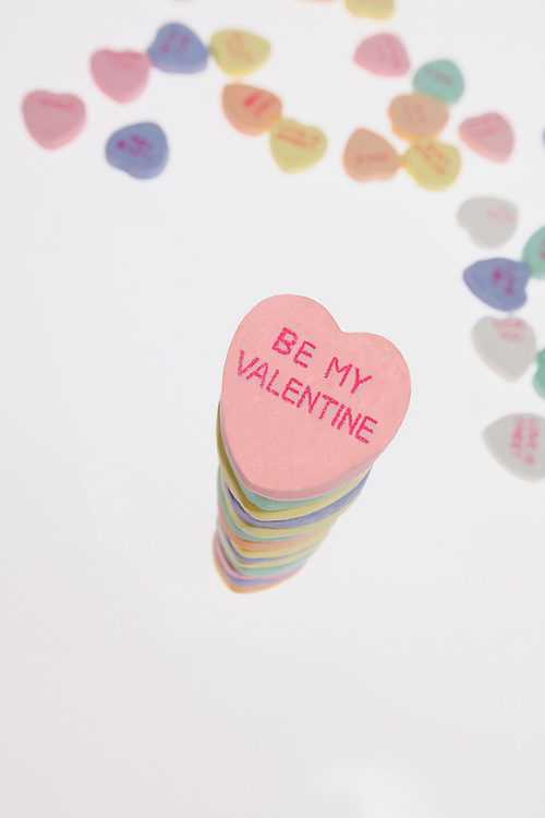 Be my Valentine heart candy sentiment