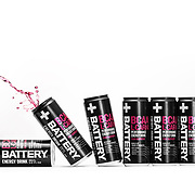 Energy drink concept product photography.