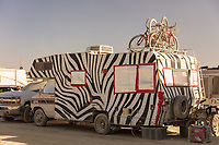 RV with Zebra paint job. My Burning Man 2019 Photos:<br />