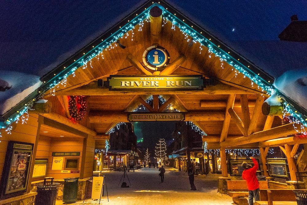 River Run Village during holidays, Keystone Resort, Colorado USA.