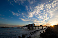 The Galveston Fishing Pier extends into the Gulf of Mexico in Galveston, Texas on Dec. 28, 2007. (Photo by Kevin Bartram)