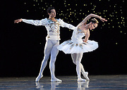 GASTON DE CARDENAS/EL NUEVO HERALD -- MIAMI -- Deanna Seay and Isanusi Garcia-Rodriguez dancers from the Miami City Ballet during a rehearsal of Diamonds part of the Ballet Jewels.