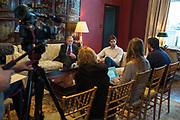 29 Noviembre 2014. Nueva York, Estados Unidos. El Dr. Valentín Fuster y Pau Gasol se reúnen en Nueva York y anuncian la puesta en marcha de la colaboración entre sus respectivas Fundaciones para promover hábitos saludables entre niños y jóvenes (foto Edu Bayer)