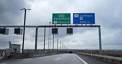 THEMENBILD - Einfahrt in den Drogdentunnel. Die Öresundverbindung ist eine feste Verbindung über den Öresund und verbindet die dänische Hauptstadt Kopenhagen mit Malmö in Schweden, Öresund, Dänemark, aufgenommen am 02. März 2015 // The Öresund Link is a fixed link across the Öresund and connecting the Danish capital of Copenhagen with Malmö in Sweden, Öresund, Denmark on 2015/03/02. EXPA Pictures © 2015, PhotoCredit: EXPA/ JFK