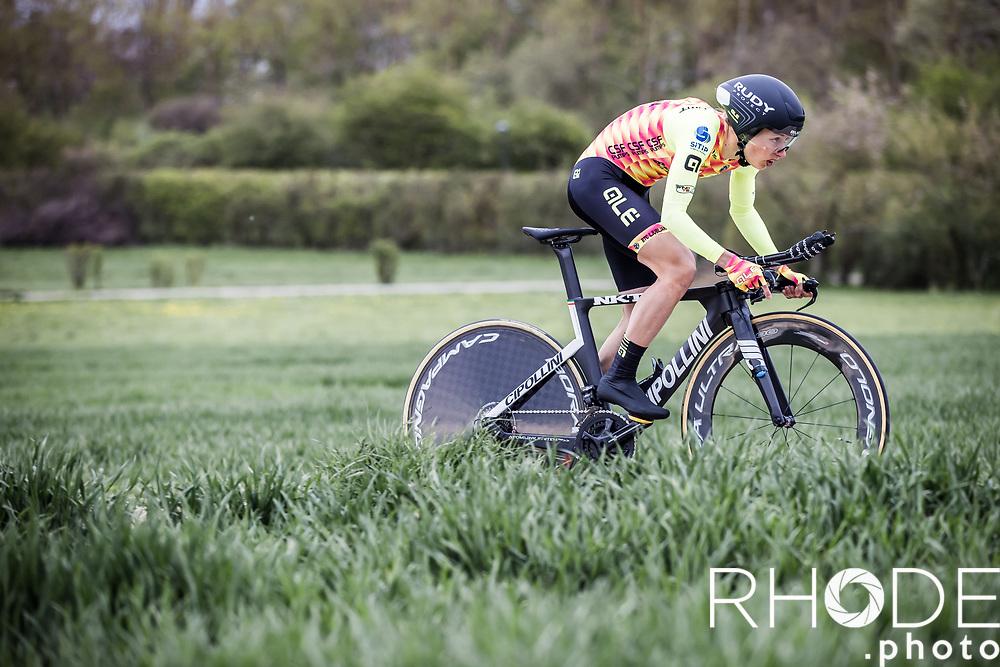 Anastasia Chursina (RUS/Ale'BTC Ljublijana)<br /> <br /> Ceratizit Festival Elsy Jacobs (LUX) 2021<br /> UCI Women Elite 2.1<br /> Day 1 - prologue : Individual Time Trial (ITT) – Cessange (LUX) 2.2km <br /> <br /> ©RhodePhoto