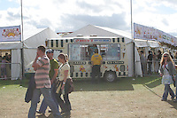 Ice cream stand at music festival