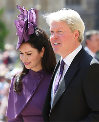 Earl Spencer and Karen Spencer leave St George's Chapel at Windsor Castle after the wedding of Meghan Markle and Prince Harry.