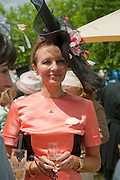 MRS. ROGER KAY, Lunch part hosted by Liz Brewer and Mrs. George Piskova in No; 1 car-park. . Royal Ascot. Tuesday. 14 June 2011. <br /> <br />  , -DO NOT ARCHIVE-© Copyright Photograph by Dafydd Jones. 248 Clapham Rd. London SW9 0PZ. Tel 0207 820 0771. www.dafjones.com.