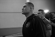 Cain Velasquez arrives for the UFC weigh-in at the Mexico City Arena in Mexico City, Mexico on June 12, 2015. (Cooper Neill)