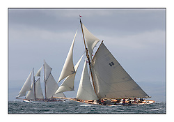 Altair 1931 Schooner and Moonbeam III 1903 Gaff Cutter..Mixed and bright conditions for the fleet as they race from Kames to Largs...* The Fife Yachts are one of the world's most prestigious group of Classic .yachts and this will be the third private regatta following the success of the 98, .and 03 events.  .A pilgrimage to their birthplace of these historic yachts, the 'Stradivarius' of .sail, from Scotland's pre-eminent yacht designer and builder, William Fife III, .on the Clyde 20th -27th June.   . ..More information is available on the website: www.fiferegatta.com . .Press office contact: 01475 689100         Lynda Melvin or Paul Jeffes