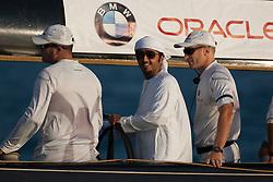 Fleet racing day. Mascalzone Latino Audi Team (ITA) wins the day. Dubai, United Arab Emirates, November 25th 2010. Louis Vuitton Trophy  Dubai (12 - 27 November 2010) © Sander van der Borch / Artemis Racing